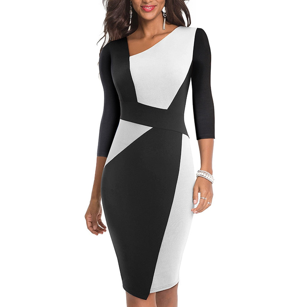 Elegant Casual Work Office Slim Dress