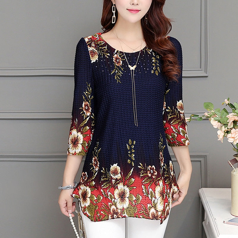 chiffon blouse shirt o-neck