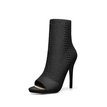 Super High Heel Half Boot For Women