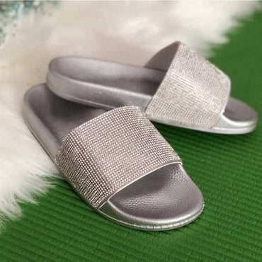 Casual Crystal  Flip Flop Slippers