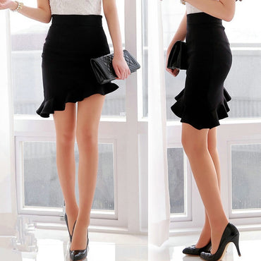 Slim Skirt High Waist Black