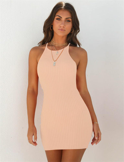 Sexy Strap Sleeveless Mini Dress