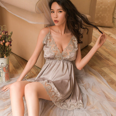 Night Sleep Underwear Dress For Women
