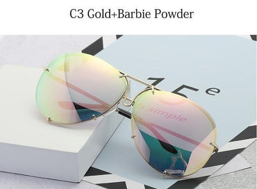 Big Gradient Shades Pilot Sunglasses