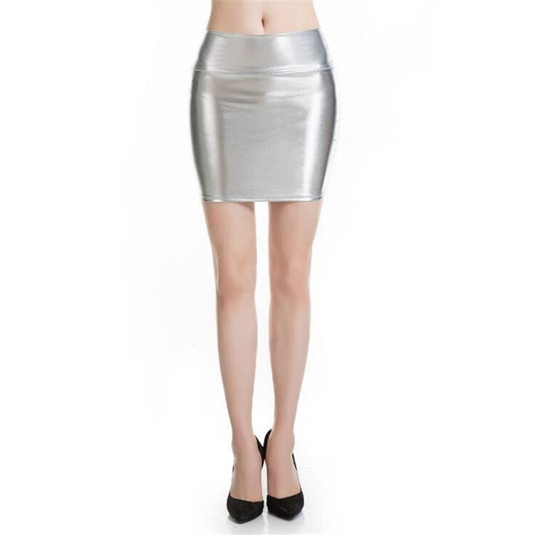 Leather Sexy Skirt Slim Lady
