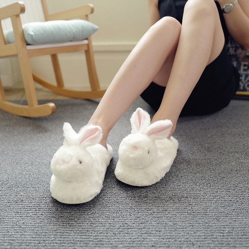 Home Slippers Winter Warm Flock Indoor Shoes