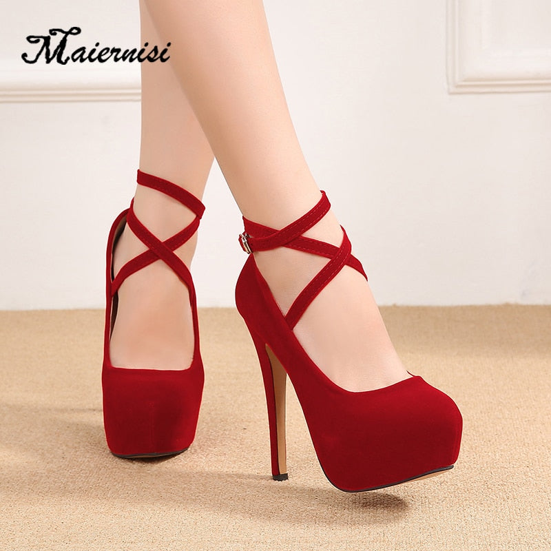 Platform Plus size high heel shoes