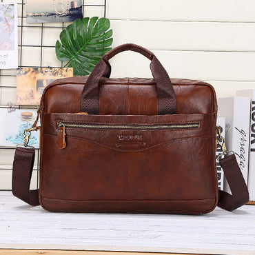 Casual Leather Shoulder Handbag