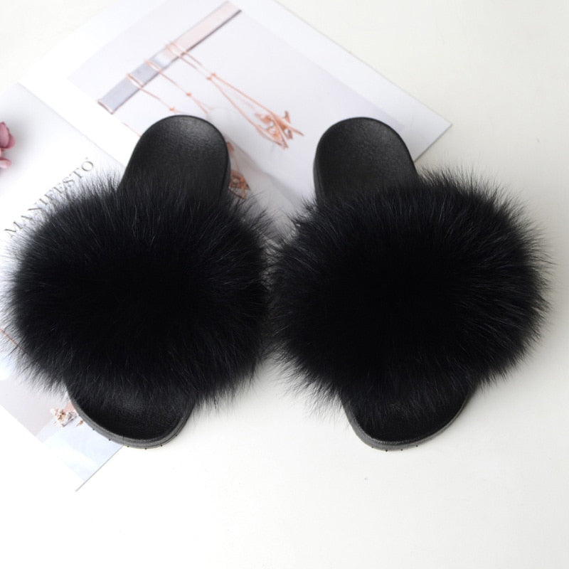Women Flat Furry Slipper