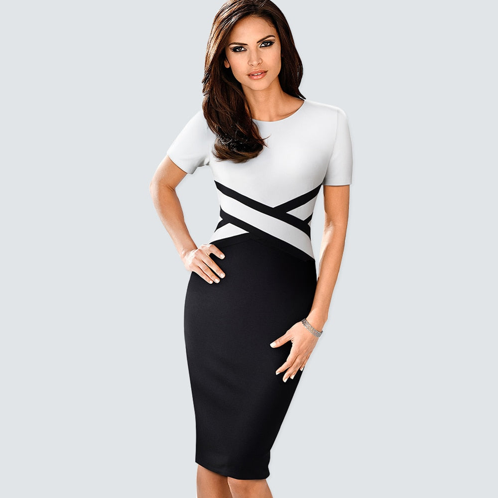 Elegant Office Lady Classic Dress