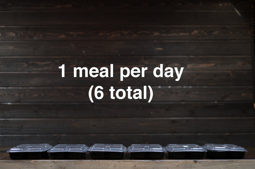 Clean Meal Plan (Basic) - 1 week - 1 meal per day (6 total)