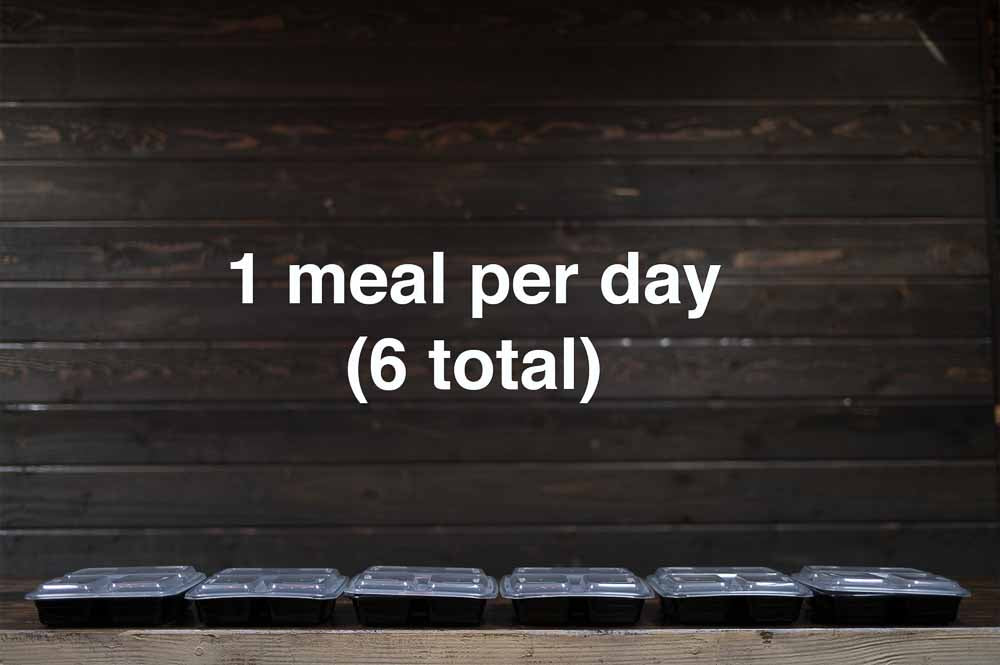 Combination Meal Plan (#1) - 1 week - 1 meal per day (6 total)
