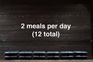 Combination Meal Plan (#3) - 1 week - 2 meals per day (12 total)