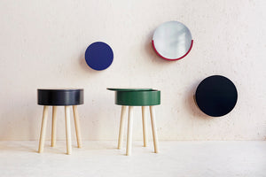 PRE-ORDER: Piilo stool, dark forest green