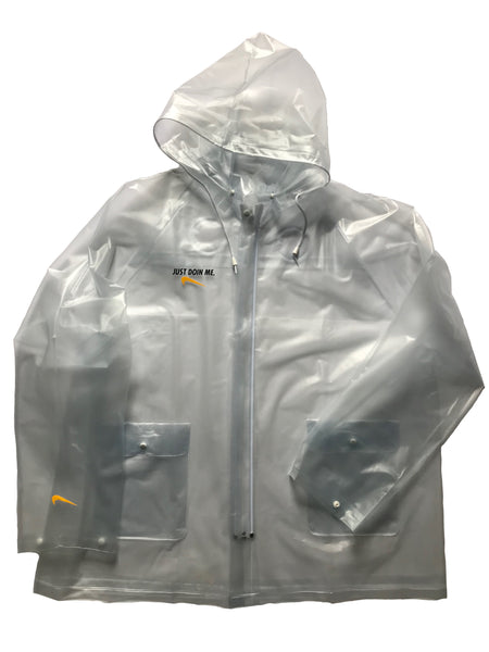 JUST DOIN ME. Transparent YOUTH Rain Jacket