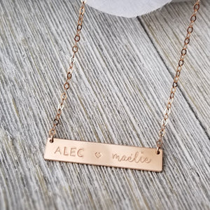 Avery Bar necklace