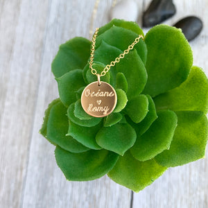 Romy Small Disc necklace