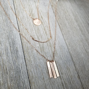 Hammered curve necklace