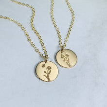 Load image into Gallery viewer, Holive Birth Flower necklace