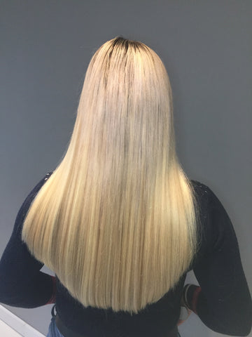 Blonde thick hair