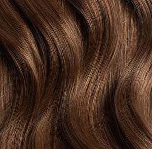 copper brown itip hair extensions