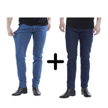 Afbeelding in Gallery-weergave laden, 2 x De Perfecte Jeans: Dark Blue + Denim Blue