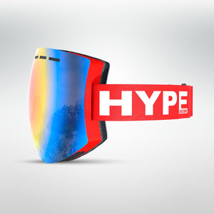 HypeSnow Rainbow Red Skidglasögon