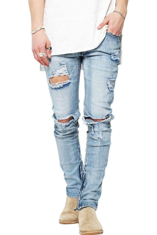 De Perfecte Distressed Jeans - Blue