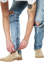 Afbeelding in Gallery-weergave laden, De Perfecte Distressed Jeans - Blue