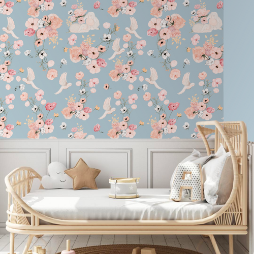 Cottontails Pastel Sky | Removable PhotoTex Wallpaper