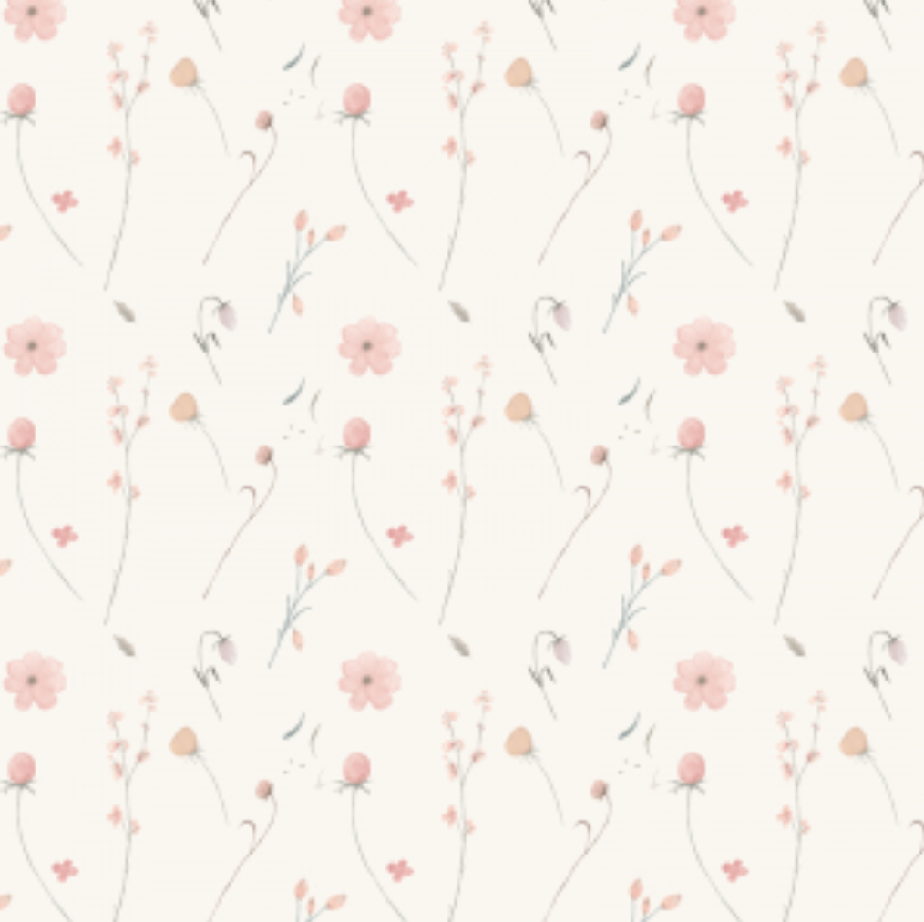 Bouquet Cream | Removable PhotoTex Wallpaper