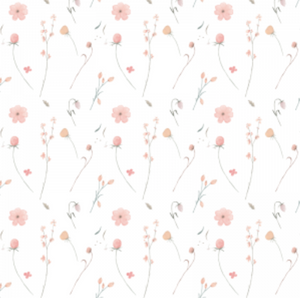 Bouquet White | Removable PhotoTex Wallpaper