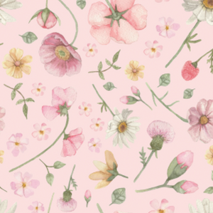 Falling Flowers Pink | Removable PhotoTex Wallpaper