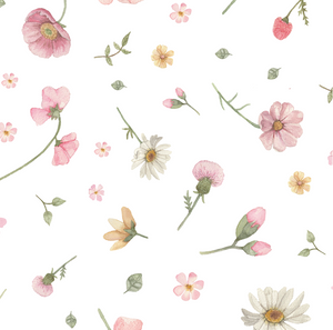 Flower Wall White | Removable PhotoTex Wallpaper