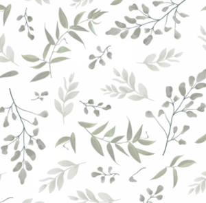 Forest Leaves Sage | Removable PhotoTex Wallpaper