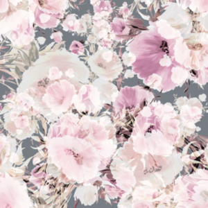 Vintage Floral Grey | Removable PhotoTex Wallpaper