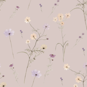 Wildflower Garden Blush | Removable PhotoTex Wallpaper