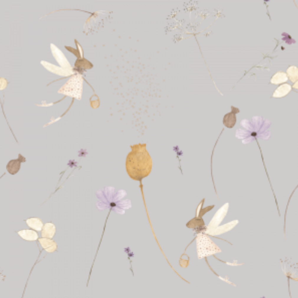 Seeds & Po Lilac | Removable PhotoTex Wallpaper