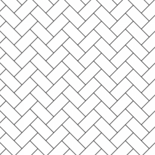 White Herringbone for Dollhouses & Hacks | Removable PhotoTex Wallpaper