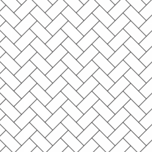 White Herringbone for Dollhouses & Hacks