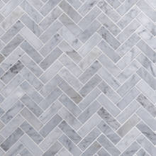 Load image into Gallery viewer, Grey Herringbone Dollhouse Splashback
