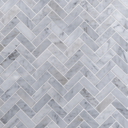 Grey Herringbone Dollhouse Splashback
