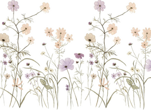 Wildflower Mural for Dollhouses