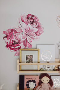 Ellery Peony Decals | Removable PhotoTex Wall Decals