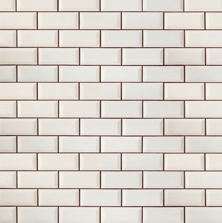 White Subway Tiles for Dollhouses & Hacks | Removable PhotoTex Wallpaper