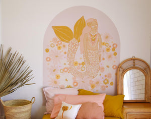 Spring Mermaid Arch Decal - Grande | Removable PhotoTex Wall Decals