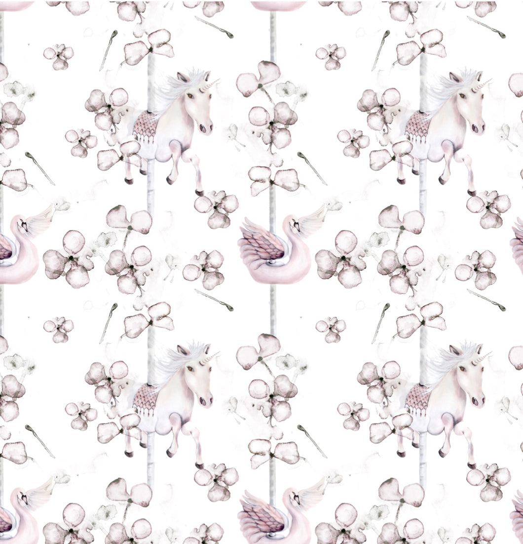 Carousel Rose | Removable PhotoTex Wallpaper