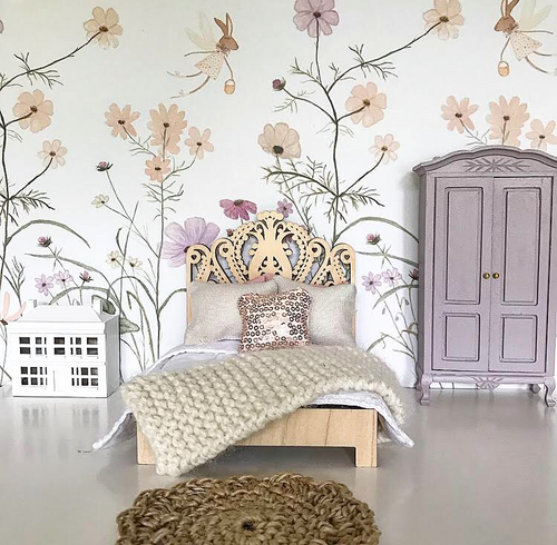 Wildflower Mural with Po for Dollhouses