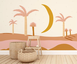 Hello Moon Mural | Removable PhotoTex Wallpaper