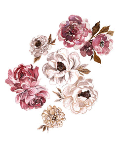 Eloise Peony Decals | Removable PhotoTex Wall Decals
